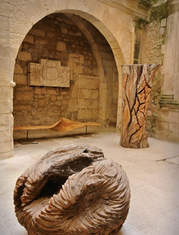 Marc Nucera - Sphère, stèle et banc vrille